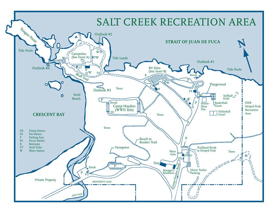 Camping Washington State Map.Salt Creek Recreation Area Map
